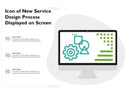 Icon Of New Service Design Process Displayed On Screen