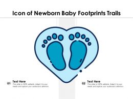 Icon Of Newborn Baby Footprints Trails