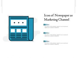 Icon Of Newspaper As Marketing Channel