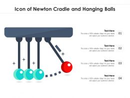 Icon Of Newton Cradle And Hanging Balls
