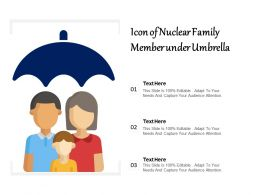 Icon Of Nuclear Family Member Under Umbrella