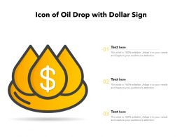 Icon Of Oil Drop With Dollar Sign