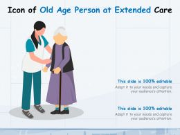 Icon Of Old Age Person At Extended Care