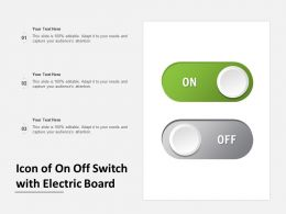 Icon Of On Off Switch With Electric Board