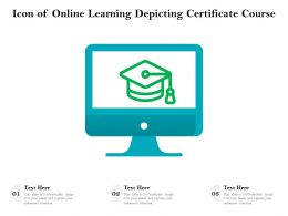 Icon Of Online Learning Depicting Certificate Course