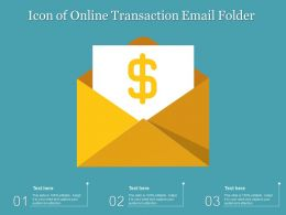 Icon Of Online Transaction Email Folder