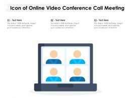 Icon Of Online Video Conference Call Meeting