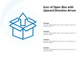 Icon Of Open Box With Upward Direction Arrow