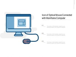 Icon Of Optical Mouse Connected With Mainframe Computer