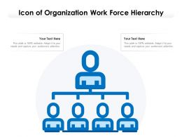 Icon Of Organization Work Force Hierarchy