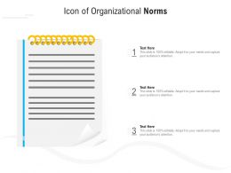 Icon Of Organizational Norms