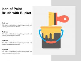 Icon Of Paint Brush With Bucket