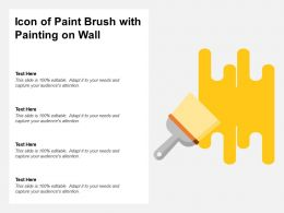 Icon Of Paint Brush With Painting On Wall