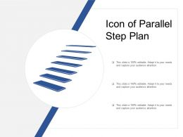Icon Of Parallel Step Plan