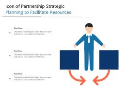 Icon Of Partnership Strategic Planning To Facilitate Resources