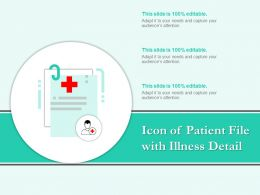 Icon Of Patient File With Illness Detail