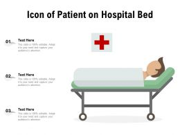 Icon Of Patient On Hospital Bed