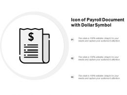 Icon Of Payroll Document With Dollar Symbol