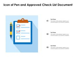Icon Of Pen And Approved Check List Document