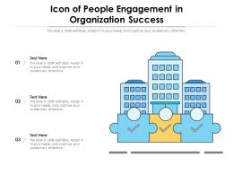 Icon Of People Engagement In Organization Success