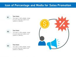 Icon Of Percentage And Media For Sales Promotion