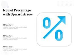 Icon Of Percentage With Upward Arrow