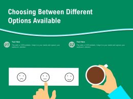 Icon Of Person Choosing Various Options