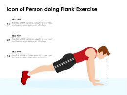Icon Of Person Doing Plank Exercise