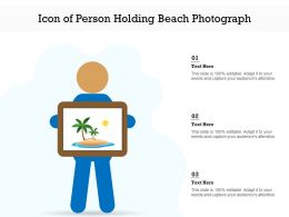 Icon Of Person Holding Beach Photograph
