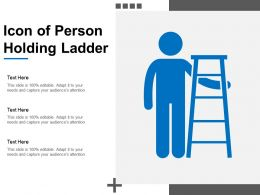 Icon Of Person Holding Ladder