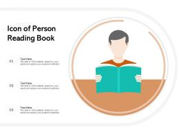 Icon Of Person Reading Book