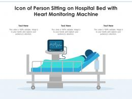 Icon Of Person Sitting On Hospital Bed With Heart Monitoring Machine