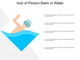 Icon Of Person Swim In Water