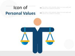 icon of personal values
