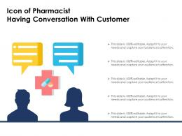 Icon Of Pharmacist Having Conversation With Customer