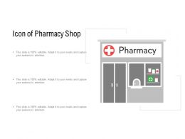 Icon Of Pharmacy Shop