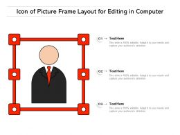 Icon Of Picture Frame Layout For Editing In Computer