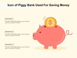Icon Of Piggy Bank Used For Saving Money