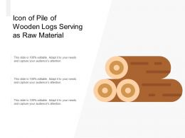 Icon Of Pile Of Wooden Logs Serving As Raw Material