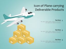 Icon Of Plane Carrying Deliverable Products