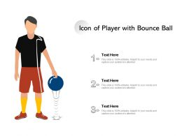 Icon Of Player With Bounce Ball