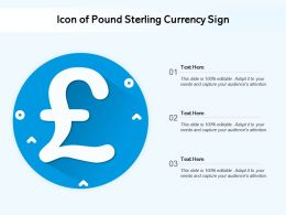 Icon Of Pound Sterling Currency Sign