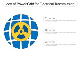Icon Of Power Grid For Electrical Transmission