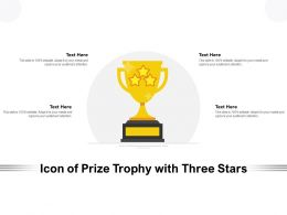 Icon Of Prize Trophy With Three Stars