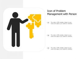 Icon Of Problem Management With Person