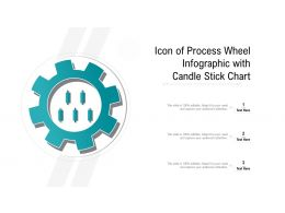 Icon Of Process Wheel Infographic With Candle Stick Chart