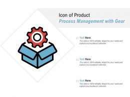 Icon Of Product Process Management With Gear