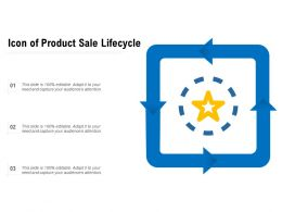 Icon Of Product Sale Lifecycle