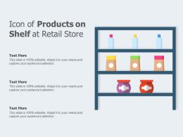 Icon Of Products On Shelf At Retail Store