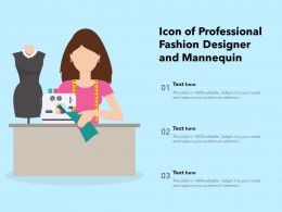 Icon Of Professional Fashion Designer And Mannequin